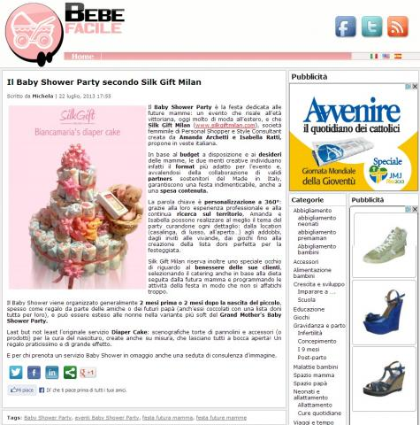 Il Baby Shower Party secondo Silk Gift Milan