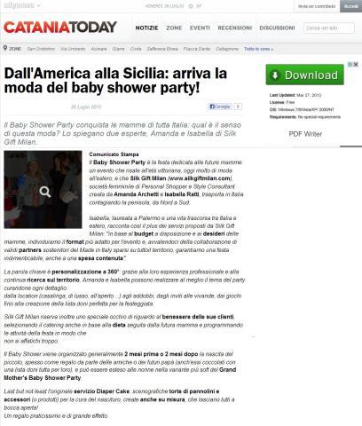 Dall'America alla Sicilia: arriva la moda del baby shower party!