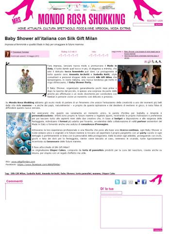 Baby Shower all'italiana con Silk Gift Milan