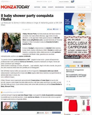 il baby shower party conquista l'italia