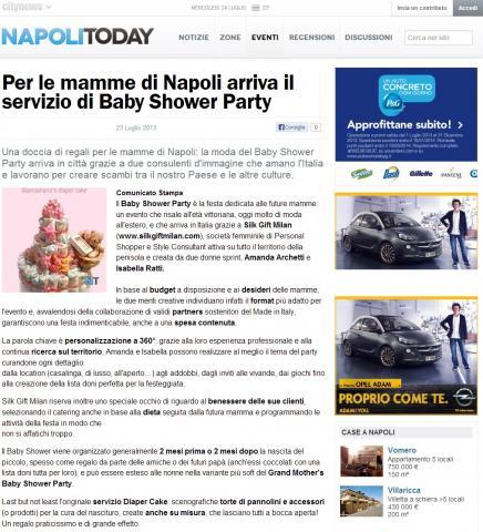 Per le mamme di Napoli arriva il servizio di Baby Shower Party