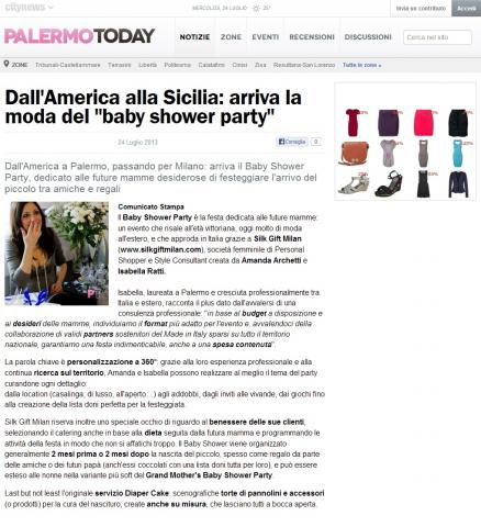 """Dall'America alla Sicilia: arriva la moda del """"baby shower party"""""""