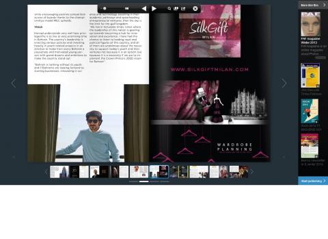 Silk Gift Milan è su Gulf Elite di Febbraio 2014