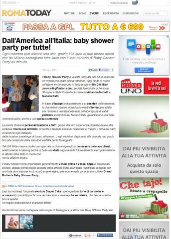 Dall'America all'Italia: baby shower party per tutte!