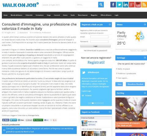 Consulenti d'immagine, una professione che valorizza il made in Italy